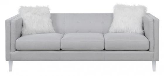 Giovanni Stationary Sofa In Light Grey main image