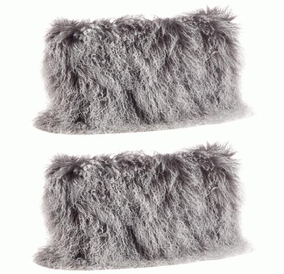 Mongolian Lamb Fur Pillows main image