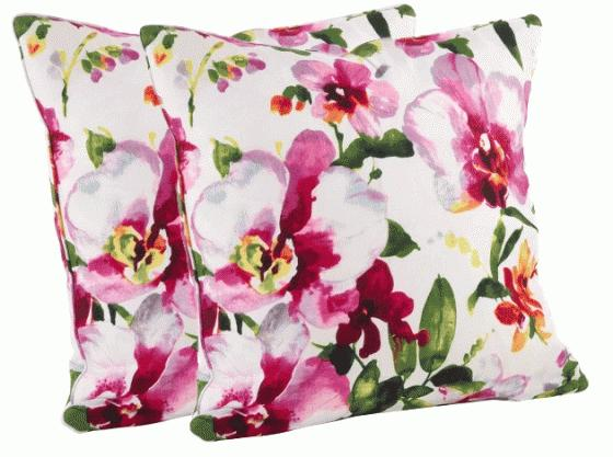 Watercolor Floral Print Throw Pillows - Down Fille main image