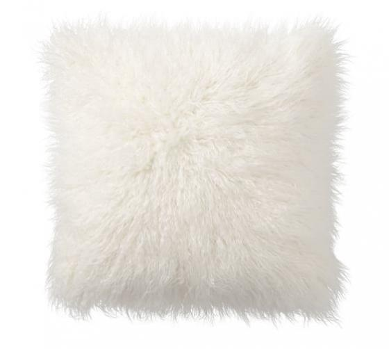 Faux Mongolian Fur Pillow main image