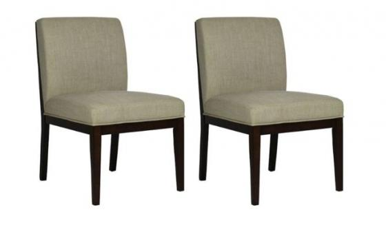 Taupe and Wood Trim Chairs main image