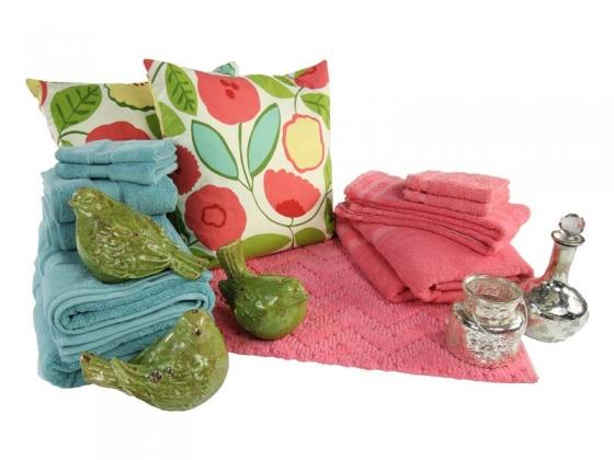 Coral, Blue and Green Bed & Bath Collection main image