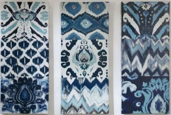 Flourish Ikat Gel Coat Canvas 3pcs Set main image