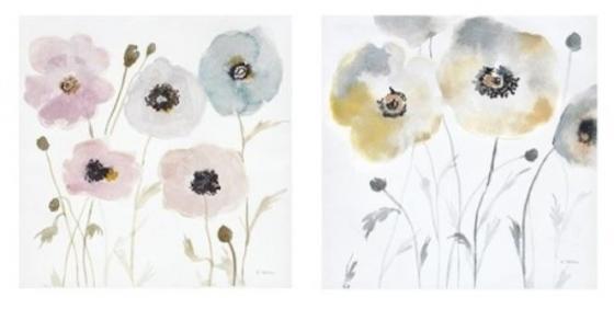 Pastel Garden Hand Embellished Canvas 2 Piece Set main image