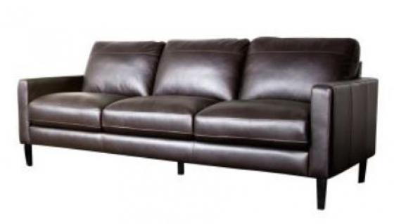 Omega Dark Chocolate Leather Sofa main image