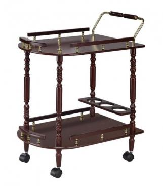 Serving Cart with Brass Accents main image