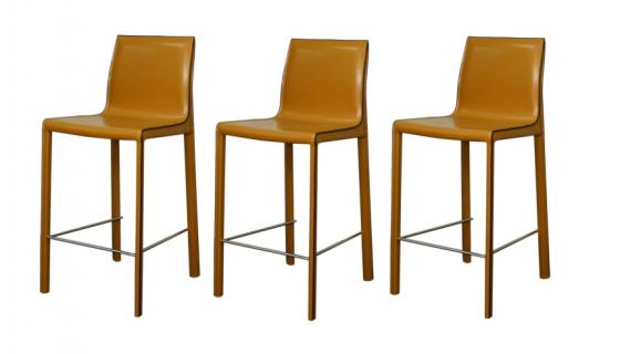 Gervin Recycled Leather Counter Stools main image
