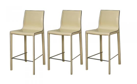 Vanilla Gervin Recycled Leather Counter Stools main image