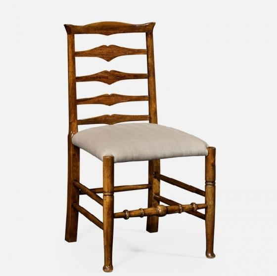 Jonathan Charles Walnut Ladder Back Side Chair main image