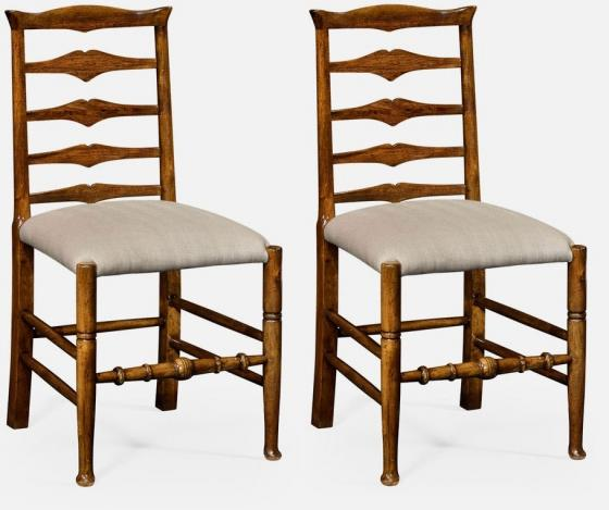 Jonathan Charles Walnut Ladder Chairs main image