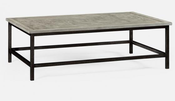 Jonathan Charles Rectangular Coffee Table with Iro main image