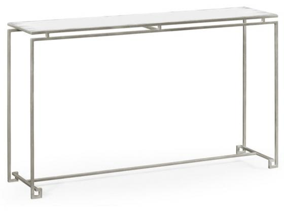 Jonathan Charles Silver Iron Large Console Table w main image