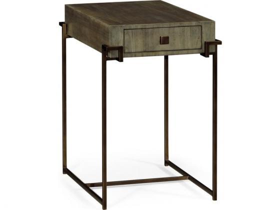 Jonathan Charles iron rectangular end table  main image