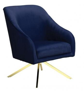 Navy Blue Sloped Arm Accent Chair main image