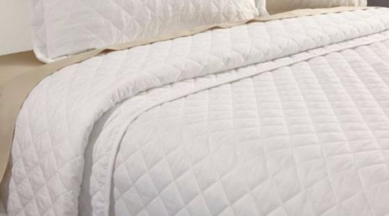 King Quilted Linen Coverlet main image