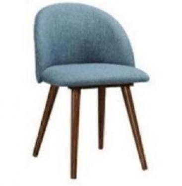 1 Aqua Dining Chair - Walnut Legs main image
