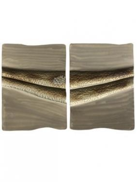 BJ Keith Set of 2 Contemporary Metal Wall Sculptur main image