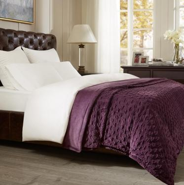Victoria Textured Plush Bedsize Throw main image
