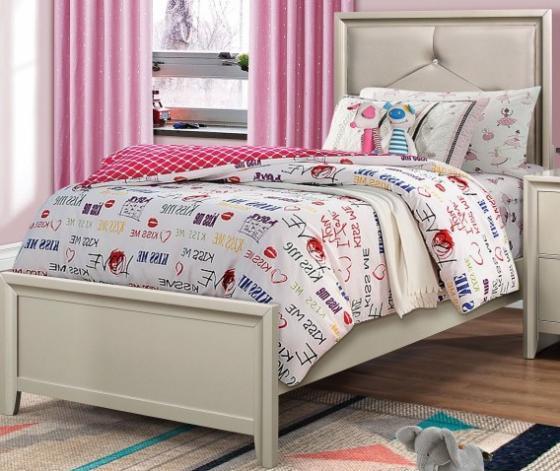 Lana Silver Twin Panel Bed main image