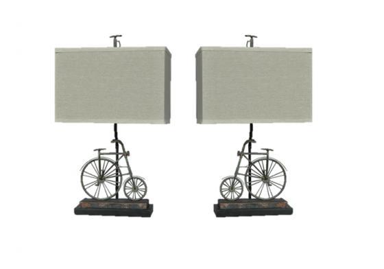 Set of 2 Big Wheel Table Lamps main image