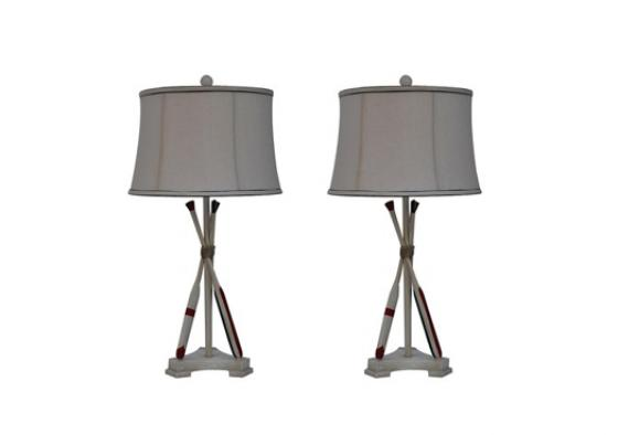 Set of 2 Naudical Oar Table Lamps main image