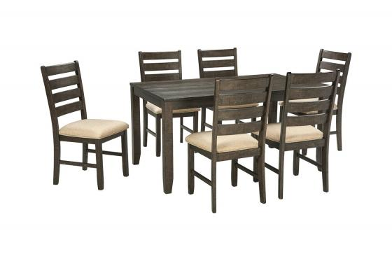 Rokane Dining Room Table and Chairs (Set of 7), , main image