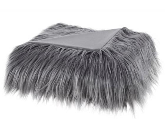 Edina Faux Fur Throw - Grey main image
