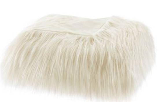 Edina Faux Fur Throw - Ivory main image