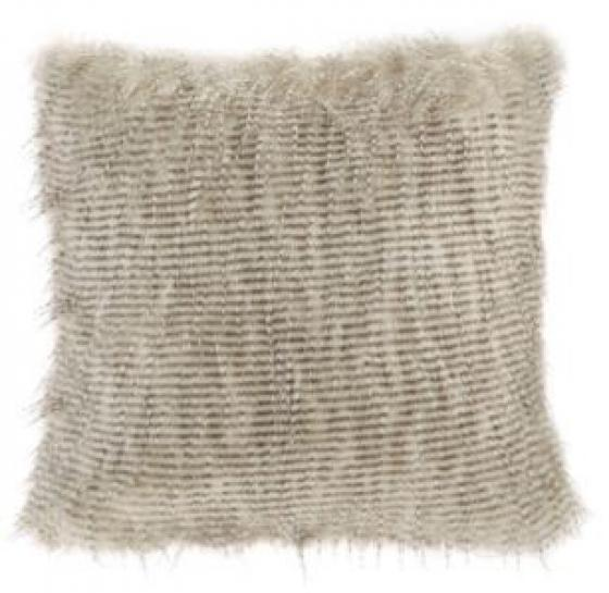 Edina Faux Fur Square Pillow - Natural main image