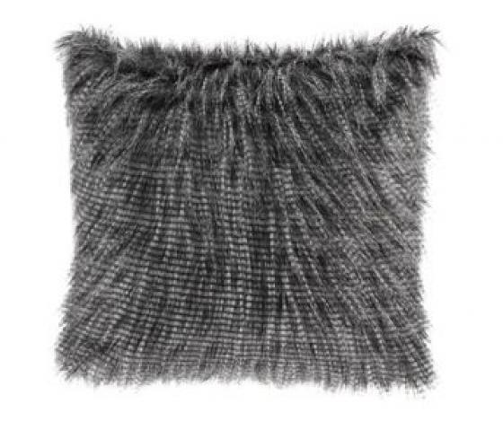 Edina Faux Fur Square Pillow - Black main image