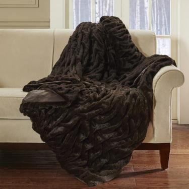 Lifestyle Ruched Fur Oversized Throw main image