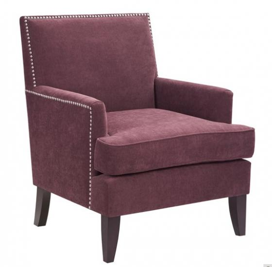 Purple Track Arm Club Chair main image