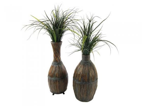 Grass in Wicker Pots main image