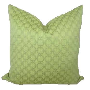Lime Green Down Circle Pillows  main image