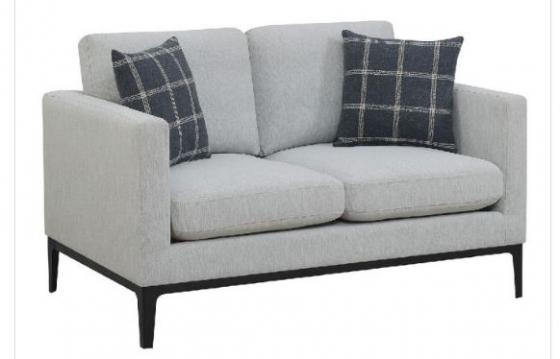 Light Grey Loveseat - Pillows NOT Included main image