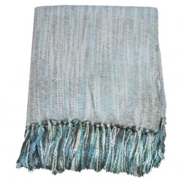 Zephyr Silver Faux Mohair Throw main image