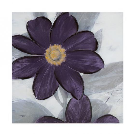 Midnight Bloom Plum Hand Embellished Canvas main image