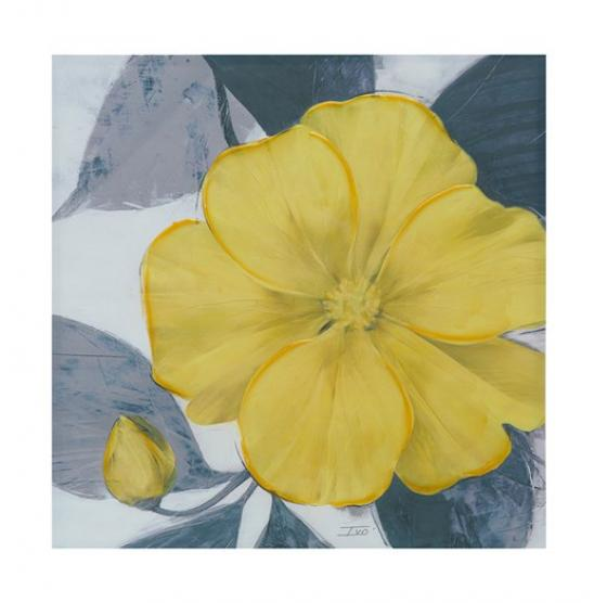 Yellow Bloom Hand Embellished Canvas main image