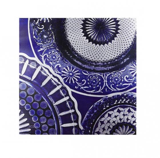 Indigo Mandala Metallic Canvas main image