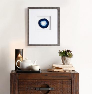 Blue Agate Stone Framed Graphic main image