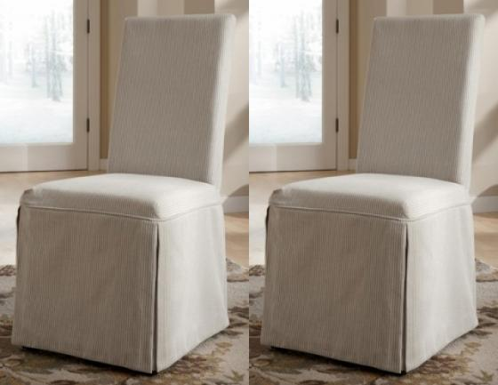 2 Slipcover Dining Chairs main image