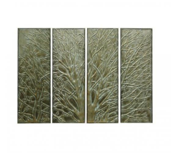 Set of Four Metal Wall Art Panels main image