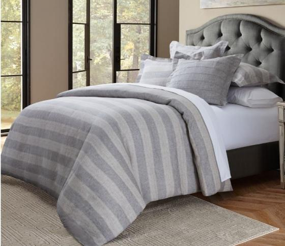 Albany 6pc King Duvet Set Gray main image