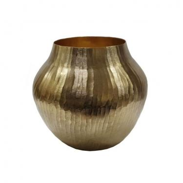 Aluminum Chisel Vase,Gold main image