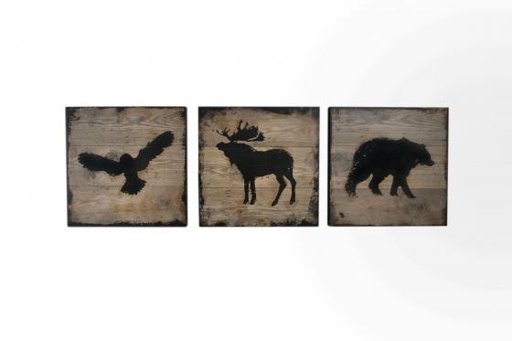 Eagle, Elk, Bear Art main image