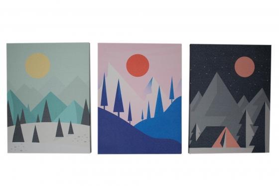 Colorful Mountain Art Trio main image
