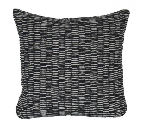 Black and White Patterned Pillow main image