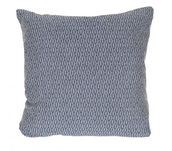 Blue and Grey Patterned Pillow main image