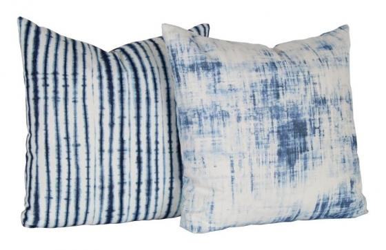Blue and White Pillows Set of 2 main image