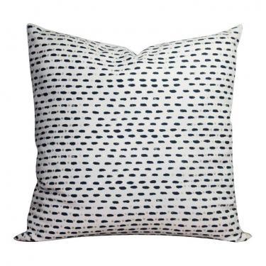 Blue Dash Pattern Pillow main image